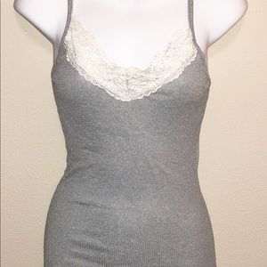 Michael Stars Coin Shine Lace Camisole One Size